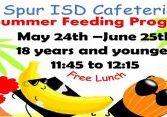 spur ISD summer Feeding program